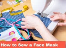 sewing a face mask